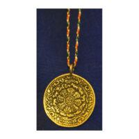 Tibeti naptár medál rézből