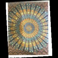 Mandala textil  kékes