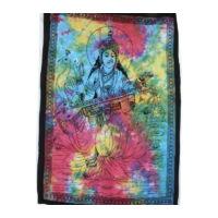 Krisna textilkép batikolt