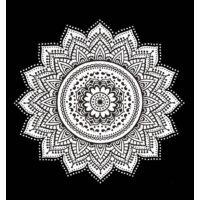 Mandala fehér feketében