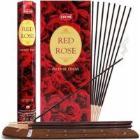 Vörös rózsa füstölő - HEM 6szög