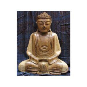 Buddha szobor fa 40 cm