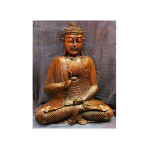 Buddha szobor fa 52 cm