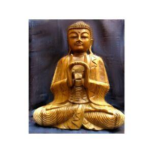 Buddha szobor fa 51 cm