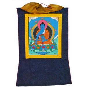 Gyógyító Buddha kézzel festett thanka