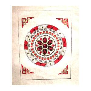 Mantrás mandala poszter