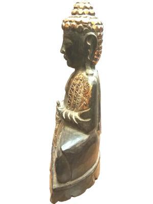 Buddha szobor fa 24 cm