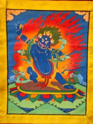 Mahakala kézzel festett thanka_product