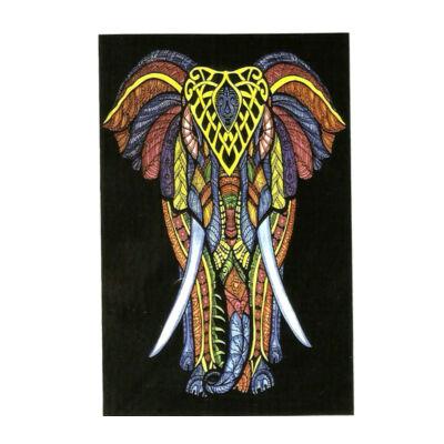 Elefánt színesben ágytakaró