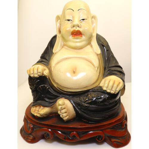 Happy Buddha kerámia szobor