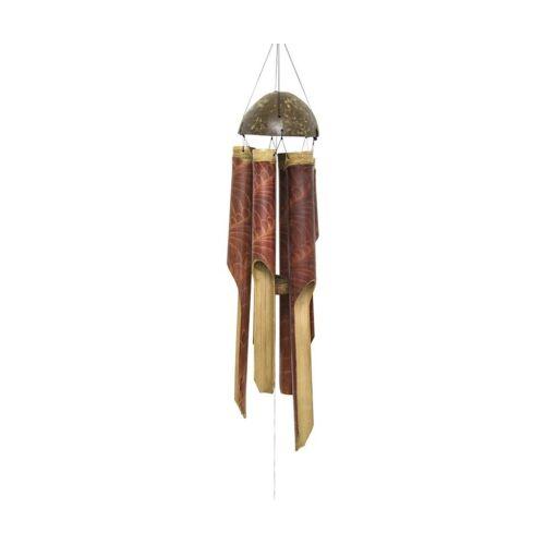 Szélcsengő bambuszfa piros