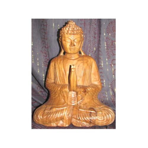 Buddha szobor fa 35 cm