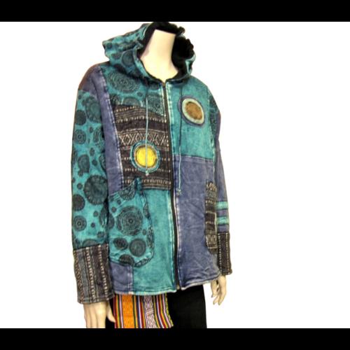 Nepáli kabát kékes - XXL