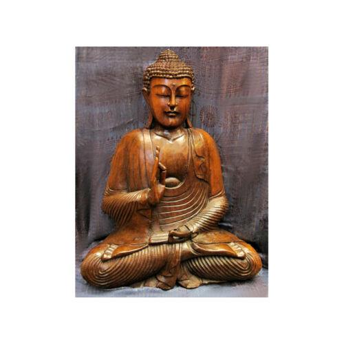 Buddha szobor fa 60 cm extra
