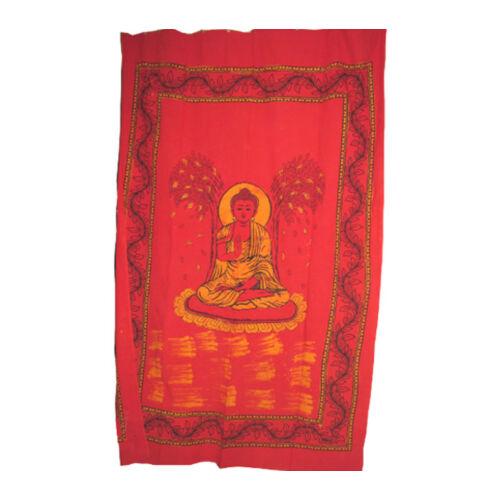 Buddha textilkép vörös