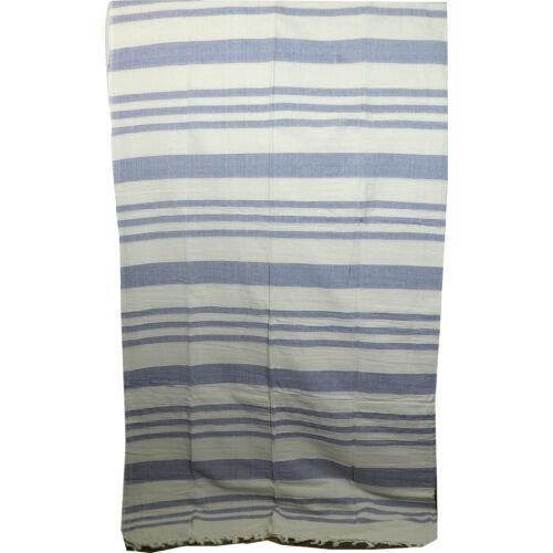 Szőttes ágytakaró natúr-kék csíkos