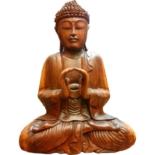 Buddha szobor fa 54 cm
