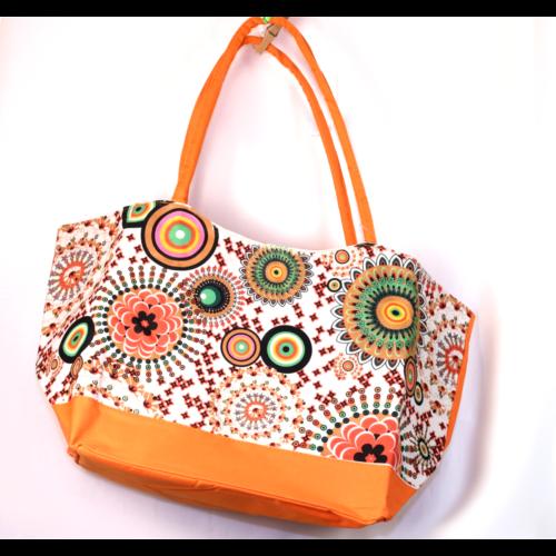 Strand/bevásárló nagy táska narancs