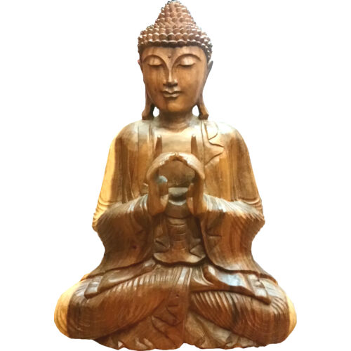 Buddha szobor fa 65 cm