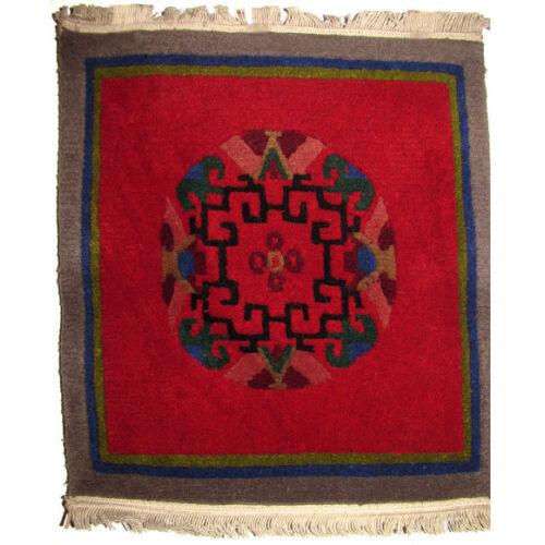 Meditációs szőnyeg nepáli mandala bordó