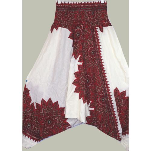 Aladdin nadrág/ruha bordó-fehér