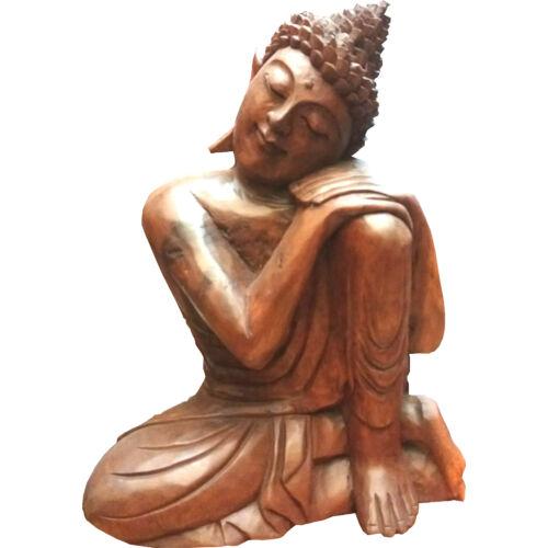 Buddha szobor fa 34 cm