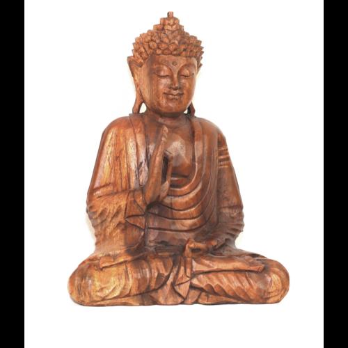 Buddha szobor fa 31 cm