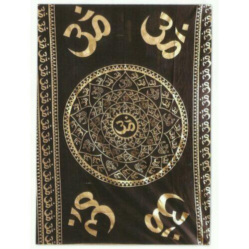 OM textil fekete-arany