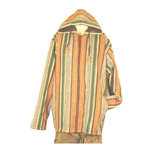 Kabát csíkos barnás XL