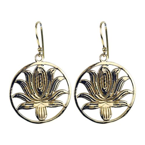 Lótusz mandala füli arany szín_product