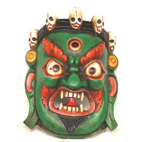 Mahakala zöld maszk S