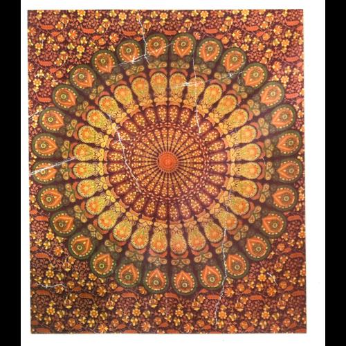 Mandala textil  pirosas