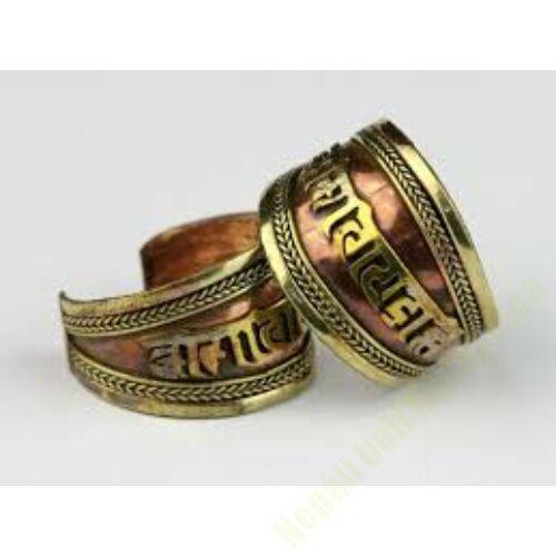 Mantrás réz gyűrű