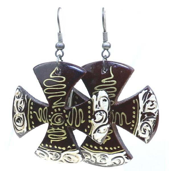 Indonéz fa fülbevaló