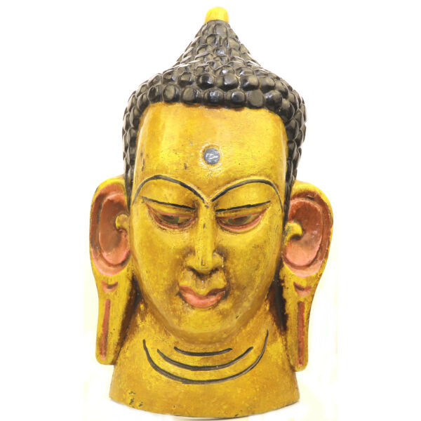 Buddha maszk festett 3