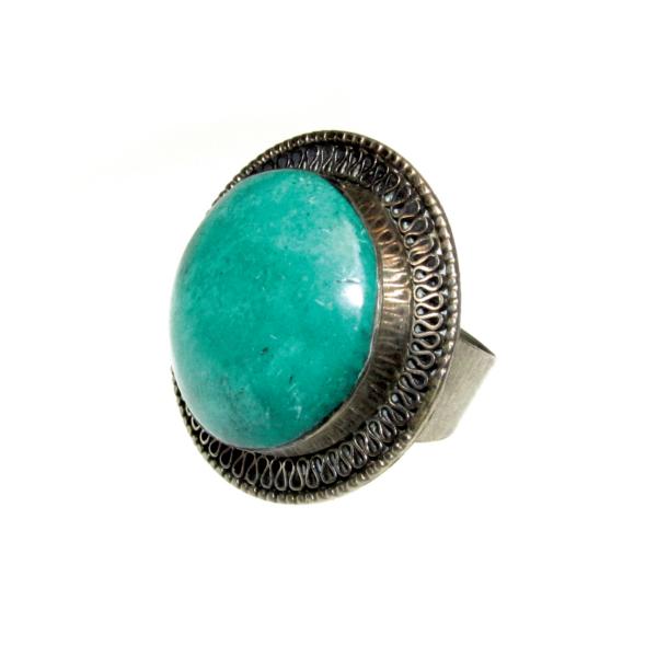 Türkizzöld köves gyűrű
