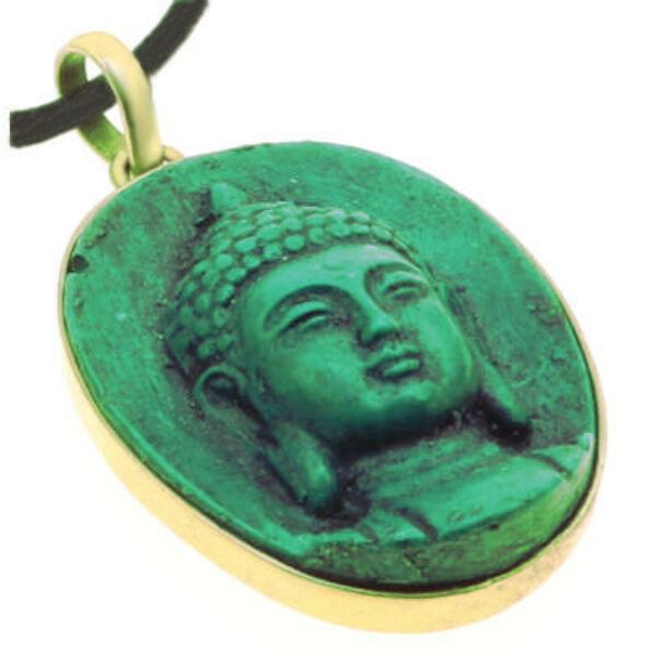Buddha medál türkiz