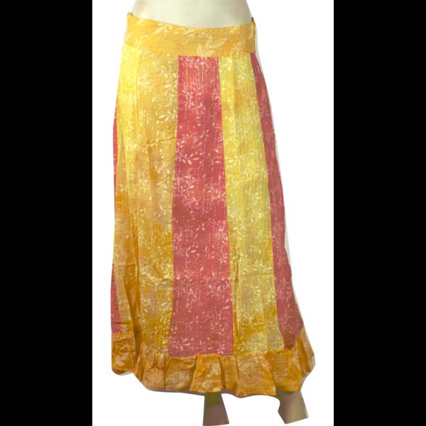 Nepáli vékony szoknya sárgás L