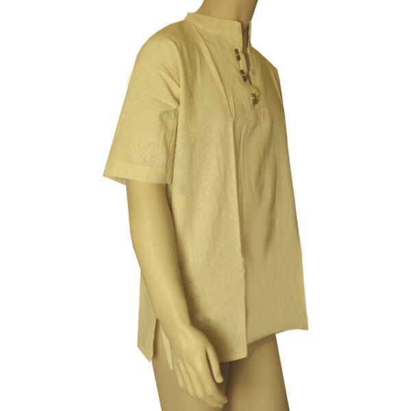 Pamut ing drapp rövid ujjú XL