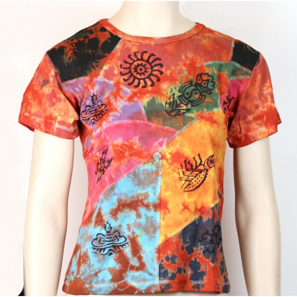 Nepáli mintás r.ujjú póló több szín