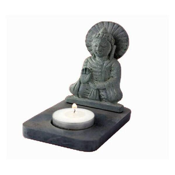 Buddha szobor és mécsestartó