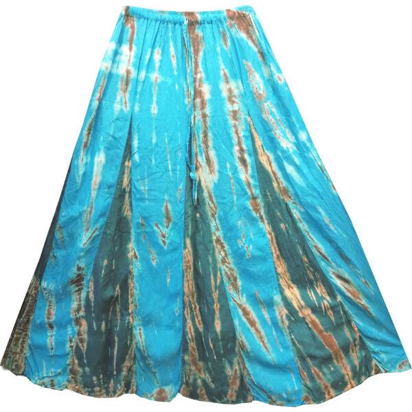 Kék-barna batikolt szoknya