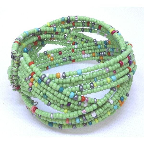 Gyöngy karkötő zöld