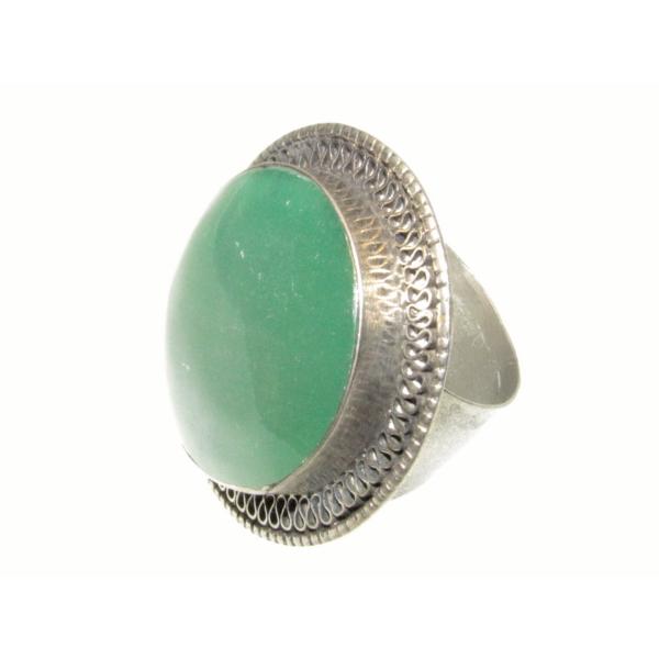Zöld köves gyűrű