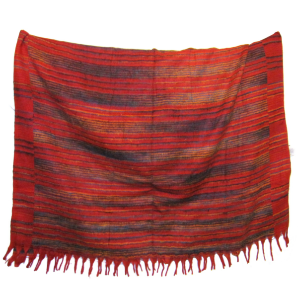 Nepáli gyapjú sál csíkosak