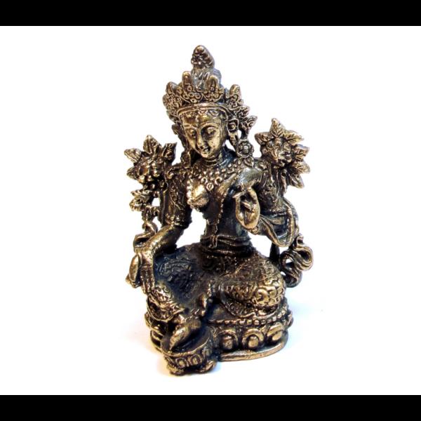 Zöld Tara szobor az együttérző segítő