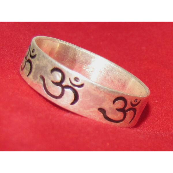 OM jeles ezüst gyűrű 20