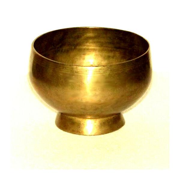 Hangtál kézi antik talpas 755 gr.