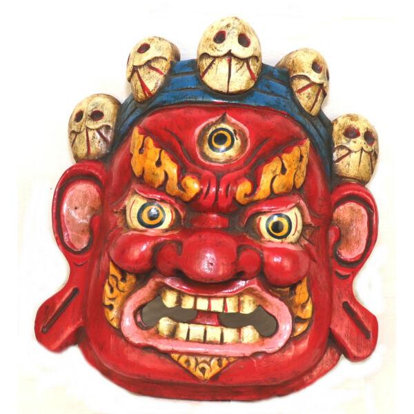 Mahakala piros maszk