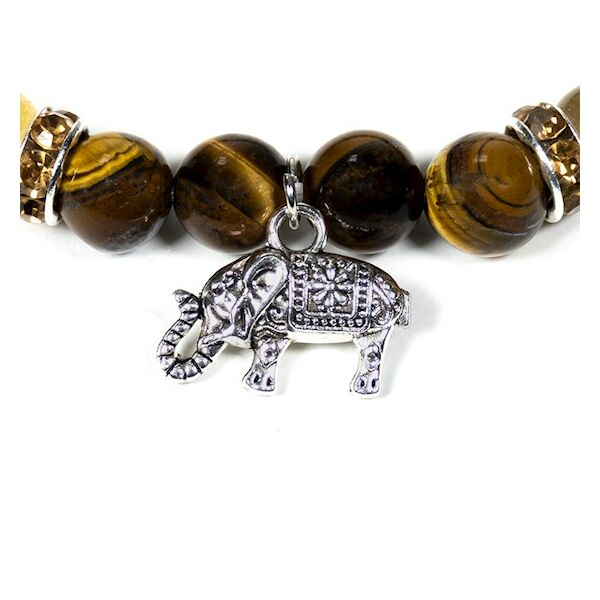Tigrisszem karkötő elefánt medállal